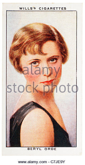 Beryl Orde 1912-1966 was a variety impressionist. EDITORIAL ONLY - Stock Image
