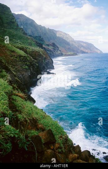 kalalau trail,na pali coast,kauai,hawaii - Stock Image