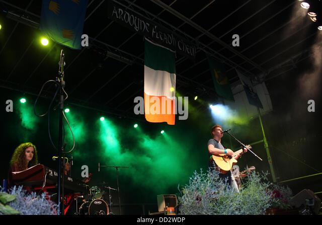 Ardoyne, Belfast, Northern Ireland, UK. 23rd August 2013.     Ardoyne Fleadh - Day 1 - Concert featuring Jordan - Stock Image