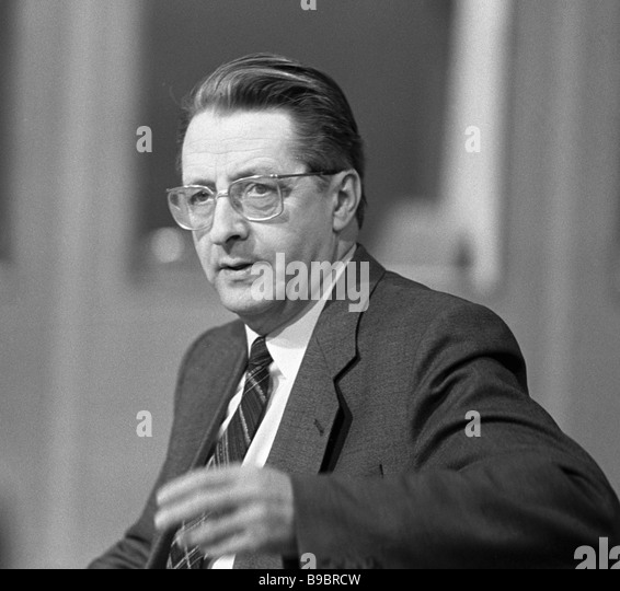 Soviet radio and television political commentator Leo Voznesensky - Stock Image