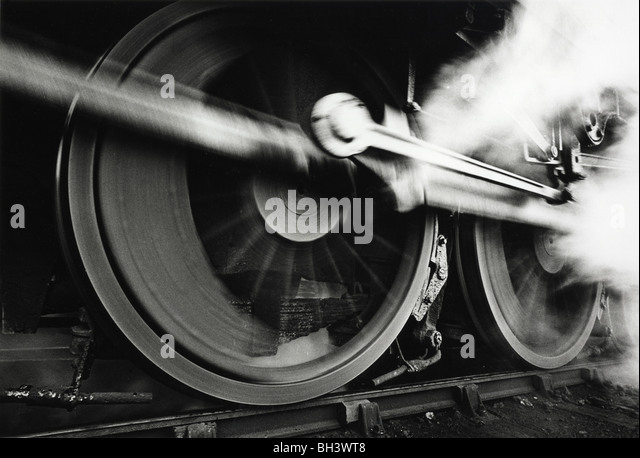 Ex LMS class 5 locomotive 44709 getting up steam in 1968 - Stock Image