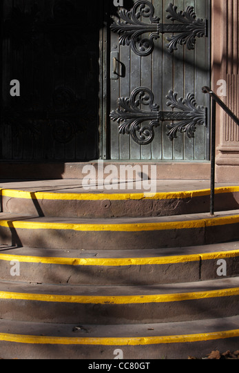 church steps - Stock Image