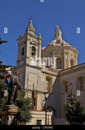 Metropolitan Cathedral, St. Paul Cathedral, Mdina, the fortress city, Malta, Europe - Stock Image