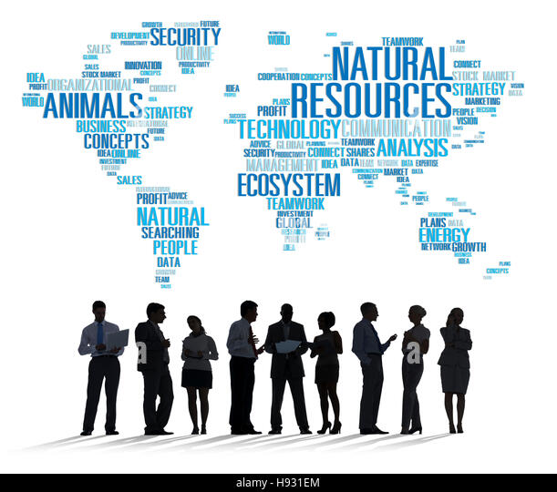 Natural Resources Environmental Conservation Sustainability Concept - Stock Image