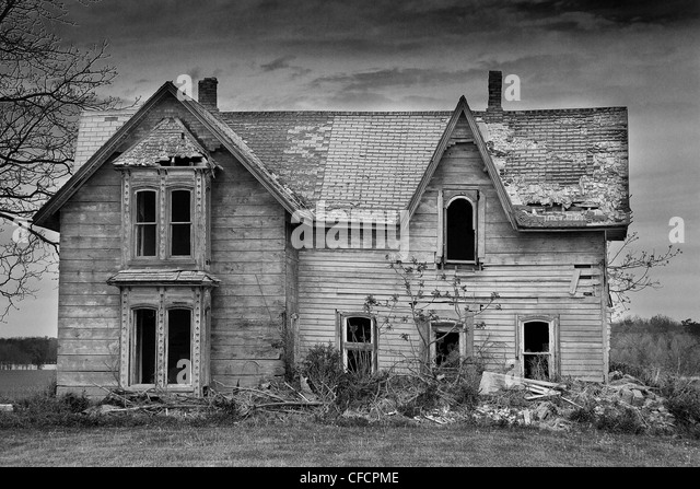 An old abandoned house in southern Ontario, Canada - Stock Image