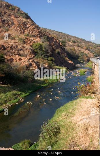 Pretoria City Apies river - Stock Image