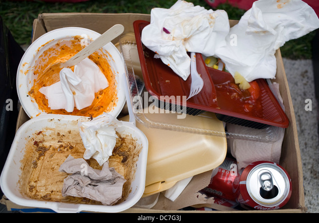 Fast food waste - Stock Image