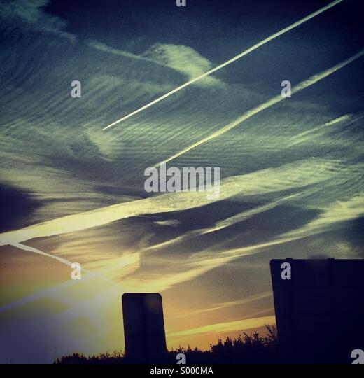 Morning sky - Stock Image