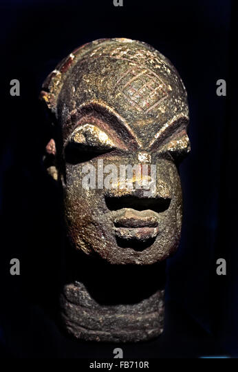 Head Dogon (Mali) 20th Century Africa African - Stock Image