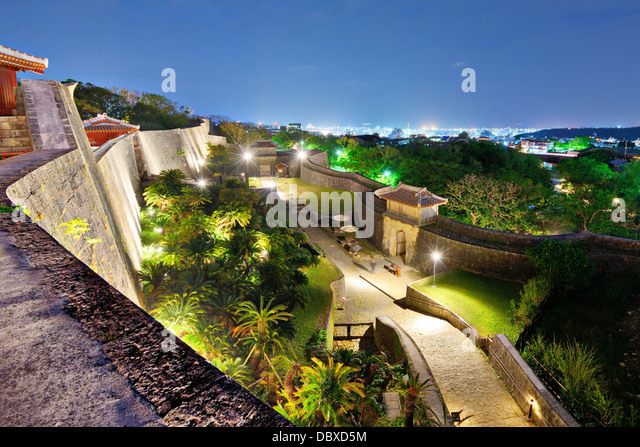 Protective wall on the grounds of Shuri Castle in Naha, Okinawa, Japan. - Stock-Bilder