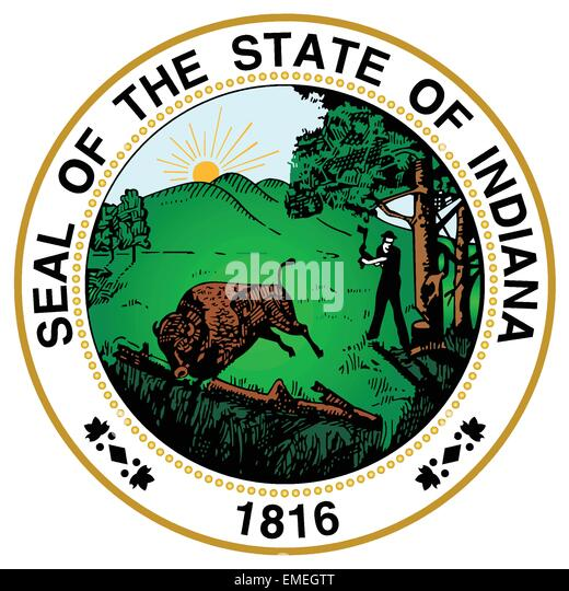 Indiana State Seal - Stock Image