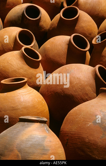 Pottery in the Berber Town of Misti Morocco - Stock Image