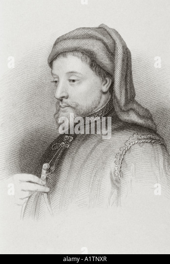 Geoffrey Chaucer circa 1342 or 1343 to 1400 English author - Stock Image