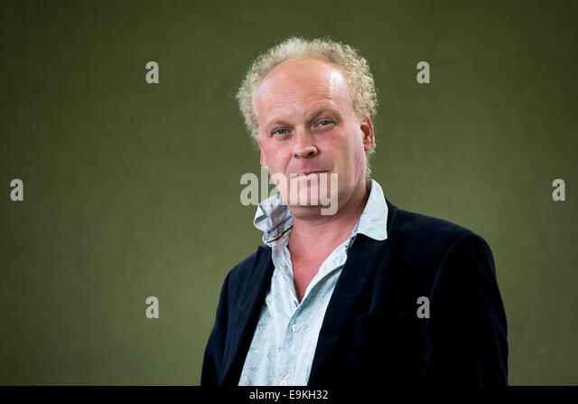 Poet and novelist Patrick McGuinness appears at the Edinburgh International Book Festival. - Stock Image