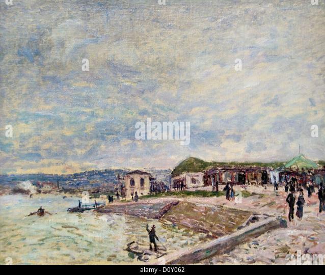 The Seine at Daybreak 1878 Alfred Sisley Alfred Sisley 1839 - 1899 British / French Impressionist - Stock Image