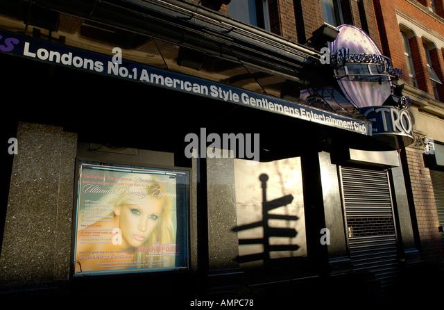 Metropolis striptease in East London - Stock Image