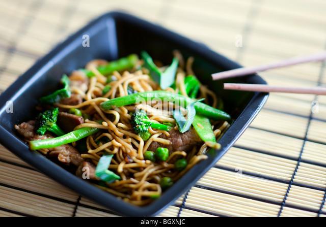 Delicious meat wok - Stock-Bilder