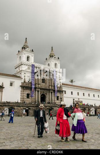 Traditional costume Quito Ecuador - Stock Image