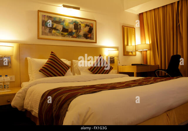 luxurious hotel room interior - Stock Image