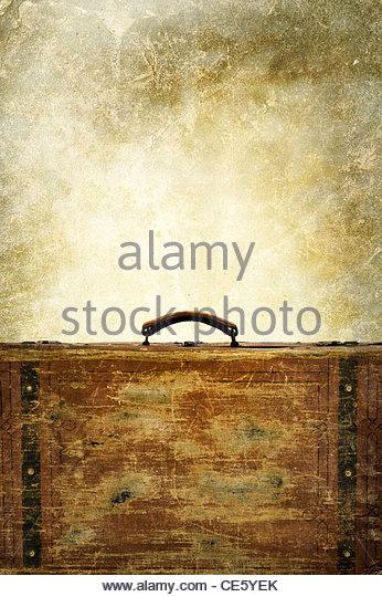 vintage luggage - Stock Image