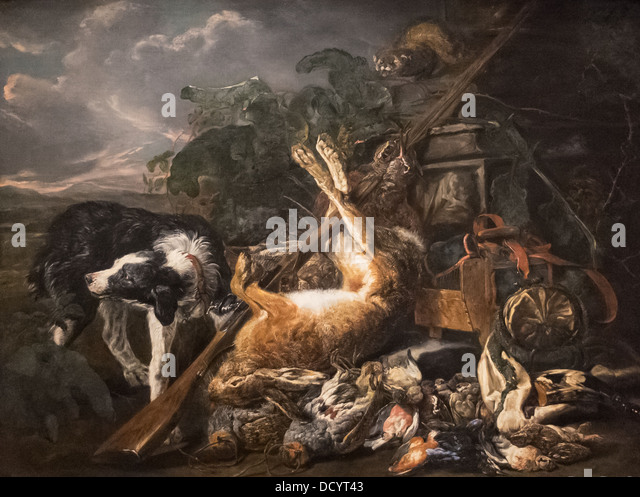 18th century  -  Still life of a hunting - Jean Fyta (1755) - DeYoung Museum - San Francisco Oil on canvas - Stock Image