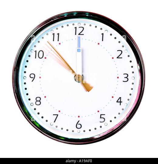 Clock strikes twelve - Stock Image