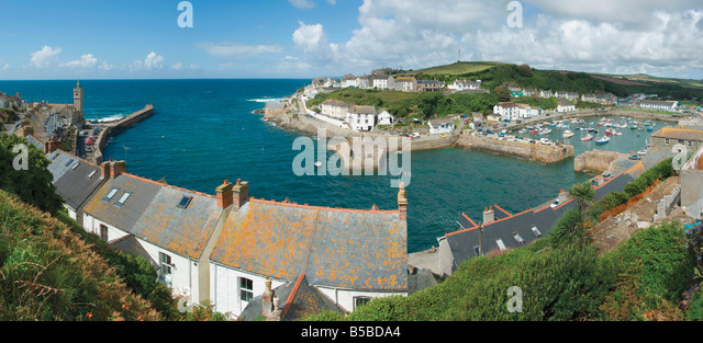 The holiday resort town of Porthleven Cornwall England United Kingdom Europe - Stock Image