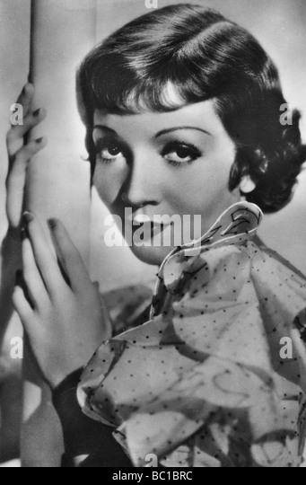Claudette Colbert, French-born American stage and film actress, c1928-1940. - Stock Image