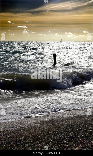 Dramatic seascape from Milford-On-Sea, Hampshire, England - Stock Image