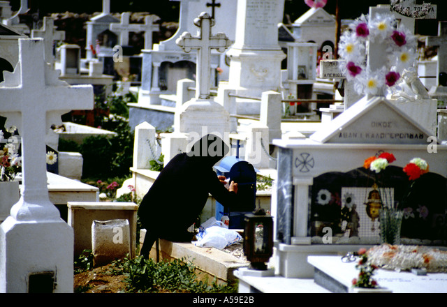Cemetery in Greece - Stock Image