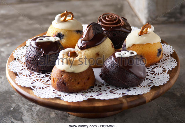 Assorted unique pastry buns - Stock Image