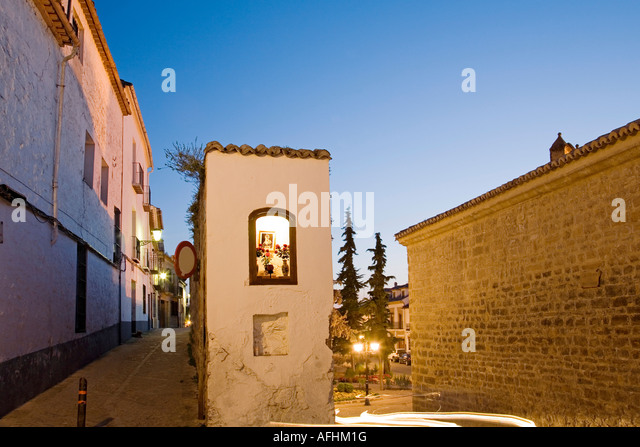 streets of the historical center baeza patrimony of the humanity jaen Andalusia Spain - Stock Image