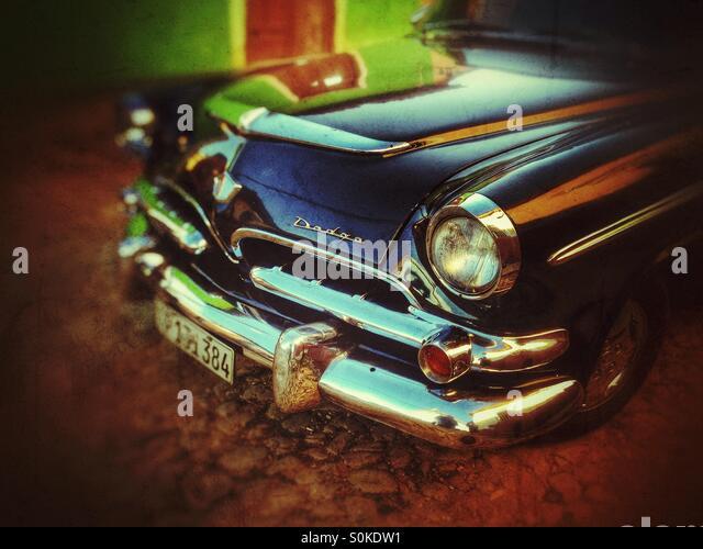 Cuban classic car close up - Stock Image