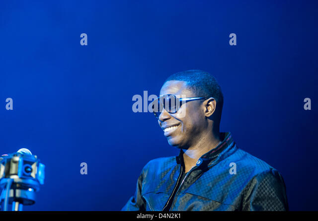 Doug E. Fresh, rapper and beatbox artist, performs during 2013 South by Southwest Music Festival in Austin, TX USA. - Stock Image
