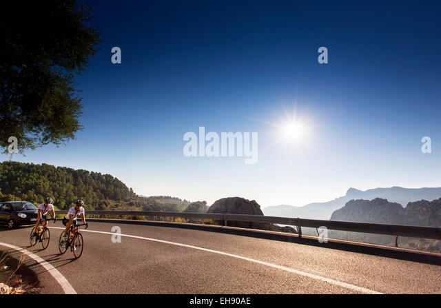 Cycling, Mallorca, Spain - Stock Image