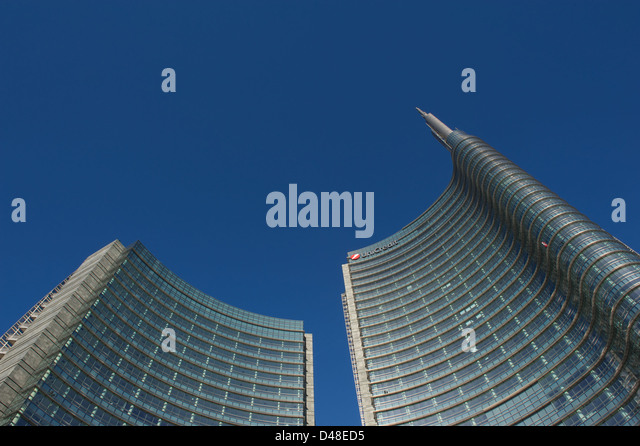 Milan,Italy,Garibaldi Tower building - Stock Image