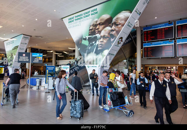 South Africa African Cape Town International Airport CPT terminal inside - Stock Image