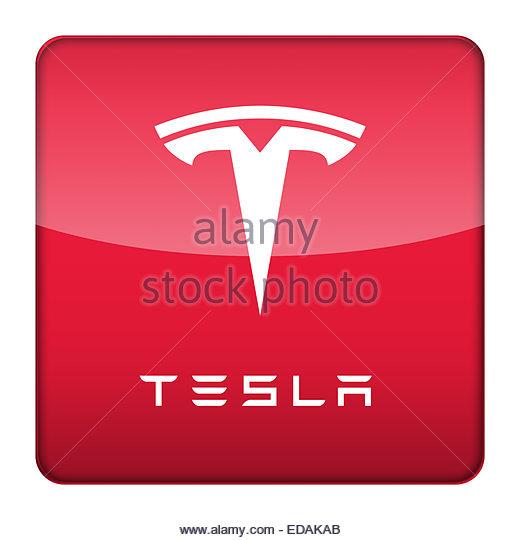 Tesla Model X Black Electric Car 4k Desktop Wallpaper: Tesla Logo Stock Photos & Tesla Logo Stock Images