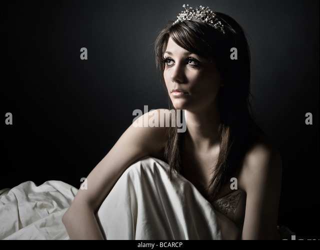 Emotional Teen Bride - Stock Image