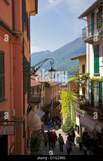 Backstreets of Bellagio, Lake Como, Lombardy, Italian Lakes, Italy, Europe - Stock Image