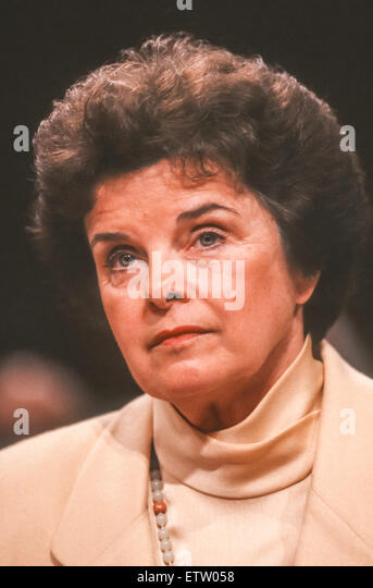 WASHINGTON, DC, USA - U. S. Senator Dianne Feinstein (D-California). July 12, 1994 - Stock Image