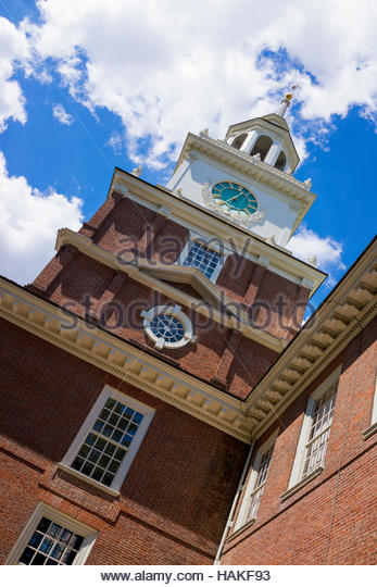 Independence Hall in Philadelphia, Pennsylvania, USA - Stock Image