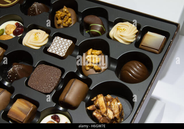 Box of chocolates - Stock Image