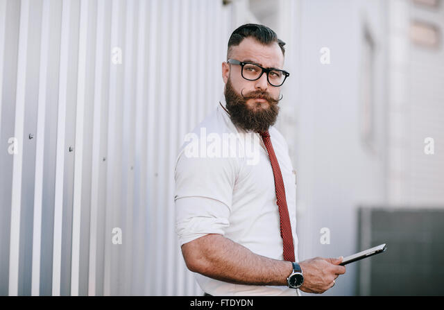 business man outside - Stock Image