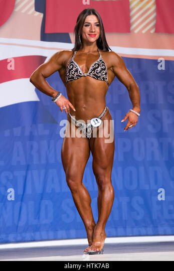 March 3rd 2017, Columbus, OH, USA;  Aurika Tyrgale (11) competes in Fitness International as part of the Arnold - Stock-Bilder
