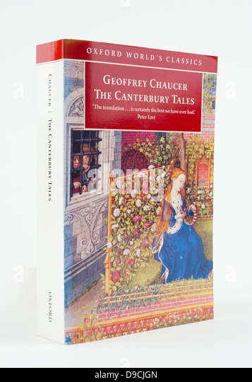 'The Canterbury Tales' is a collection of stories written by Geoffrey Chaucer. - Stock Image