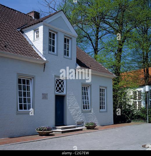 Geburtshaus des Schriftstellers Enno Wilhelm Hektor in Dornum, Nordsee, Ostfriesland, Niedersachsen - Stock Image