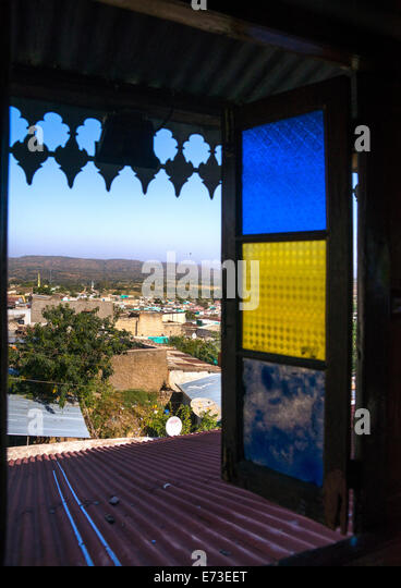 Arthur Rimbaud House, Harar, Ethiopia - Stock Image