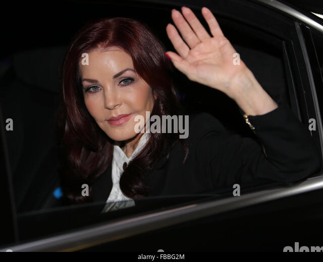 Priscilla Presley outside ITV Studios  Featuring: Priscilla Presley Where: London, United Kingdom When: 14 Dec 2015 - Stock Image