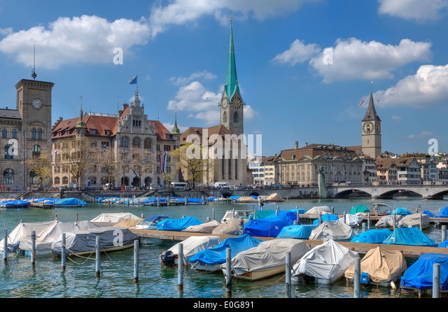 Zurich, old town, Switzerland - Stock Image